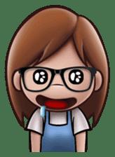 Little Cute Girl Cha-cha sticker #10448889