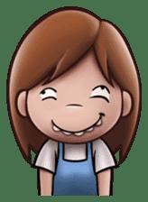 Little Cute Girl Cha-cha sticker #10448893