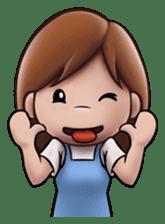 Little Cute Girl Cha-cha sticker #10448894