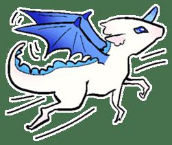 wing&tail(BlueDragon) sticker #10455743