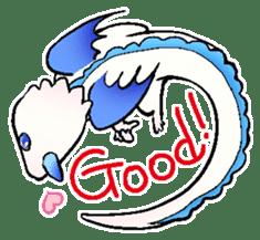 wing&tail(BlueDragon) sticker #10455747