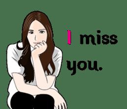 Asian beauty 2 sticker #10464535