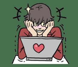 AsB - 110 Joy Girl / The Heart Player sticker #10464776