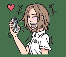 AsB - 110 Joy Girl / The Heart Player sticker #10464779