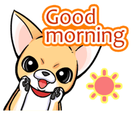 Together with Chihuahua!(English ver.) sticker #10465000