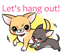 Together with Chihuahua!(English ver.) sticker #10465021
