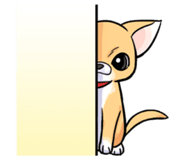 Together with Chihuahua!(English ver.) sticker #10465030