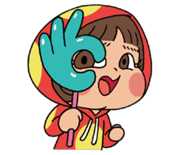 Mari, Wonder Girl by Pex sticker #10466935