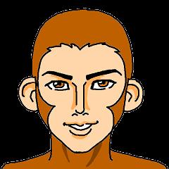 Handsome too monkeys