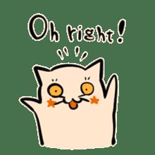 Bakenekodomo[Oh right!] sticker #10470743