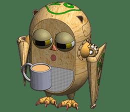 Robot Owl sticker #10484344