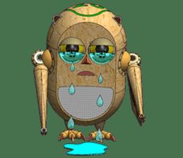 Robot Owl sticker #10484346