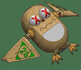 Robot Owl sticker #10484347