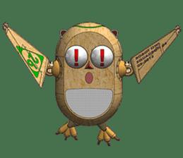 Robot Owl sticker #10484349