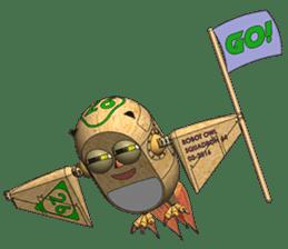 Robot Owl sticker #10484350