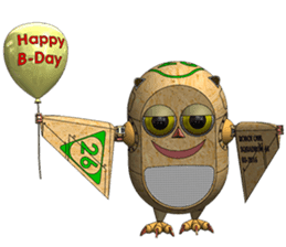 Robot Owl sticker #10484353