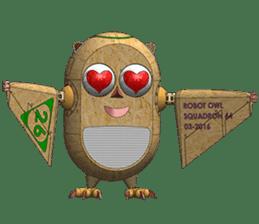 Robot Owl sticker #10484354