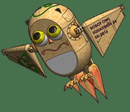 Robot Owl sticker #10484356