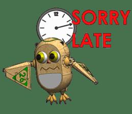 Robot Owl sticker #10484357