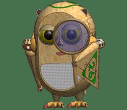 Robot Owl sticker #10484359