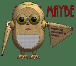 Robot Owl sticker #10484362