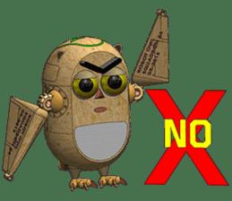 Robot Owl sticker #10484364