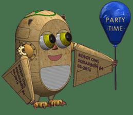 Robot Owl sticker #10484366