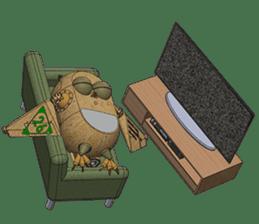 Robot Owl sticker #10484367