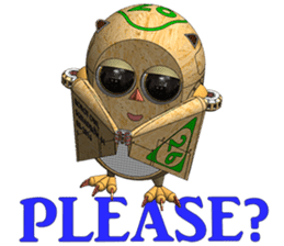 Robot Owl sticker #10484370