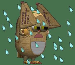 Robot Owl sticker #10484372