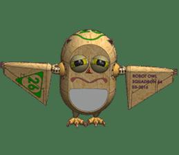 Robot Owl sticker #10484374