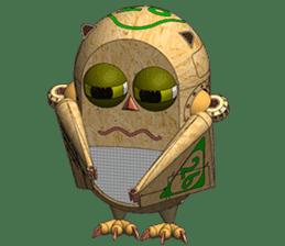 Robot Owl sticker #10484375