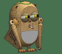 Robot Owl sticker #10484376