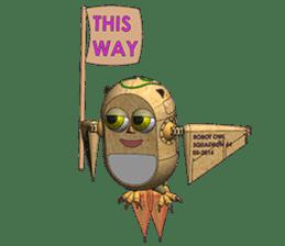 Robot Owl sticker #10484378