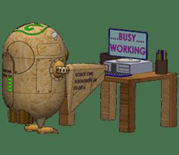 Robot Owl sticker #10484379