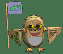 Robot Owl sticker #10484380