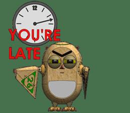Robot Owl sticker #10484382