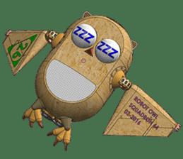 Robot Owl sticker #10484383