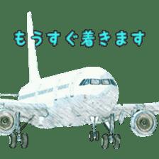 Airplane Sticker sticker #10493447