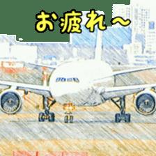 Airplane Sticker sticker #10493453
