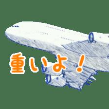Airplane Sticker sticker #10493457