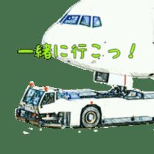 Airplane Sticker sticker #10493464