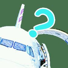 Airplane Sticker sticker #10493467
