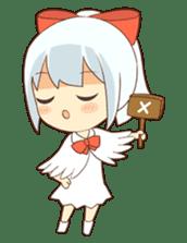 white crane girl sticker #10507295