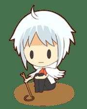 white crane girl sticker #10507319