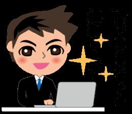 Businessman in Japanese sticker #10509007