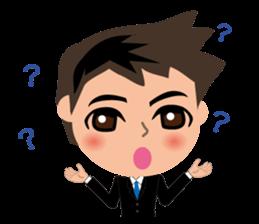 Businessman in Japanese sticker #10509012