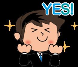 Businessman in Japanese sticker #10509018