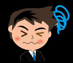 Businessman in Japanese sticker #10509020
