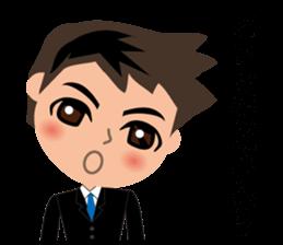 Businessman in Japanese sticker #10509023
